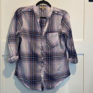 2/$25 Triple Five Soul Button Down Lightweight Top